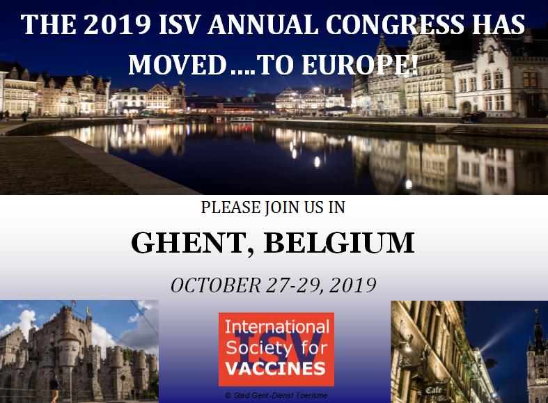 Vaccine Congress 2019 Ghent, Belgium - Oct 27th - 29th 2019